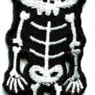 Skull skeleton goth horror applique iron-on patch S-260