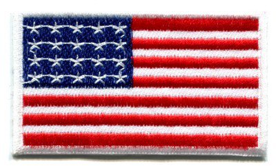 American flag Old Glory applique iron-on patch Small S-100