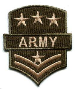 Army military insignia rank war biker retro applique iron-on patch S-89