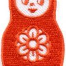 Russian matryoshka babushka babooshka nesting doll applique iron-on patch S-318