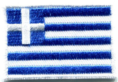 Flag of Greece Greek Hellenic freedom or death applique iron-on patch Small S-349