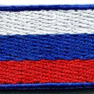 Russian flag Russia applique iron-on patch Small S-114