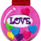 Christmas Xmas ball decoration yule love peace applique iron-on patch S-248