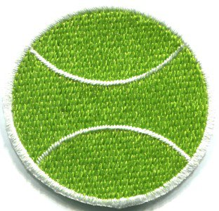 Tennis ball sports retro applique iron-on patch S-247