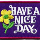 Have a Nice Day 70s hippie retro boho weed love applique iron-on patch S-120
