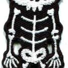 Skull skeleton goth punk emo horror biker applique iron-on patch S-258
