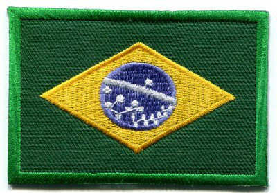Brazilian flag Brazil Rio applique iron-on patch S-107