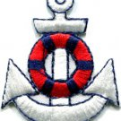Anchor tattoo navy biker retro ship boat sea sew applique iron-on patch S-402