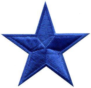 Star retro hippie 70s applique iron-on navy blue S-150