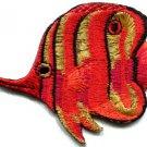 Angelfish fish orange/red applique iron-on patch S-223