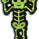 Skull skeleton goth punk emo horror biker sew applique iron-on patch S-485