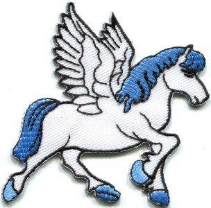 Pegasus fantasy horse unicorn greek medusa poseiden applique iron-on patch S-298