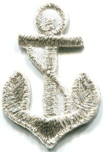 Anchor tattoo navy biker retro ship boat sea sew applique iron-on patch S-480