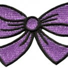 Purple bow knot ribbon boho retro sew sewing applique iron-on patch S-440