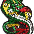 Chinese dragon kung fu martial arts biker tattoo applique iron-on patch S-449