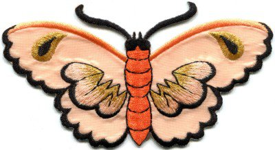 Butterfly insect boho hippie retro love peace applique iron-on patch S-454