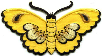 Butterfly insect boho hippie retro love peace applique iron-on patch S-461