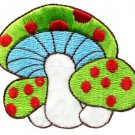 Mushroom boho hippie retro love peace weed trance applique iron-on patch S-72