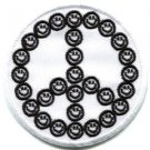 Smiley face peace sign hippie 70s retro boho love weed iron-on patch S-25