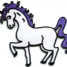Unicorn fantasy retro fun applique iron-on patch S-219