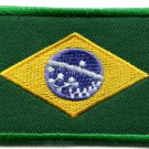 Brazilian flag Brazil applique iron-on patch Small S-107