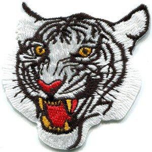 Bengal tiger cat puma jaguar lion cheetah animal applique iron-on patch Small S-321