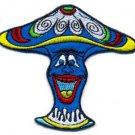Mushroom boho 70s hippie retro love peace weed pot applique iron-on patch S-56