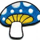 Mushroom boho hippie retro love peace weed trance applique iron-on patch S-75