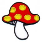 Mushroom boho 70s hippie retro love peace weed pot applique iron-on patch S-65