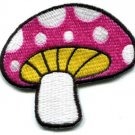 Mushroom boho 70s hippie retro love peace weed pot applique iron-on patch S-77