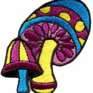 Mushroom boho hippie retro love peace weed trance applique iron-on patch S-284
