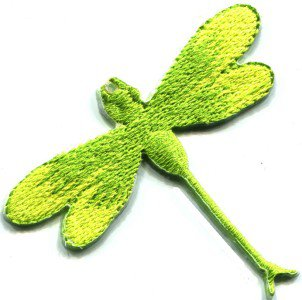 Dragonfly dragon fly insect fun retro sew sewing applique iron-on patch S-422