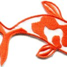 Japanese koi carp fish tattoo Japan love orange applique iron-on patch S-434