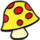 Mushroom boho hippie retro love peace weed trance applique iron-on patch S-429