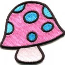 Mushroom boho hippie retro love peace weed trance applique iron-on patch S-428