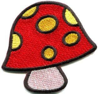 Mushroom boho hippie retro love peace weed trance applique iron-on patch S-426