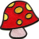 Mushroom boho hippie retro love peace weed trance applique iron-on patch S-426
