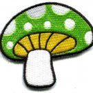 Mushroom boho hippie retro love peace weed trance applique iron-on patch S-76
