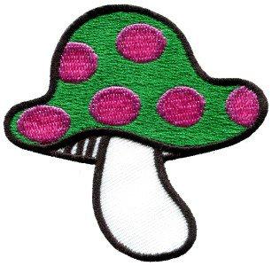 Mushroom boho 70s hippie retro love peace weed pot applique iron-on patch S-68