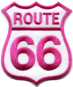 Route 66 retro muscle cars 60s americana applique iron-on patch S-275