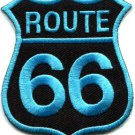 Route 66 retro muscle cars 60s americana USA applique iron-on patch S-271
