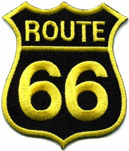 Route 66 retro muscle cars 60s americana USA applique iron-on patch S-273