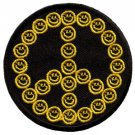 Smiley face peace sign hippie 70s retro boho iron-on patch S-26