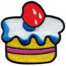 Cupcake retro disco 70s party boho fun sew cake applique iron-on patch S-197