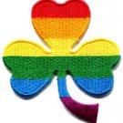 3 leaf clover gay lesbian pride rainbow retro LGBT applique iron-on patch S-131