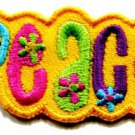 Love peace boho hippie flower power retro weed applique iron-on patch S-33