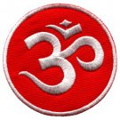 Aum om infinity hindu hindi hinduism yoga indian applique iron-on patch S-3
