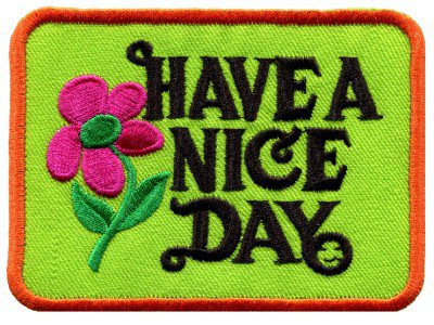 Have a Nice Day 70s hippie retro boho weed love applique iron-on patch S-117