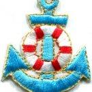 Anchor tattoo navy biker retro ship boat sea sew applique iron-on patch S-406