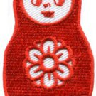 Russian matryoshka babushka babooshka nesting doll applique iron-on patch S-313